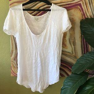 Zara White perfectly-imperfect tshirt (M)